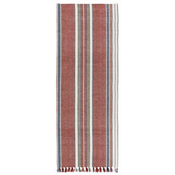 Azalea 100% Cotton Striped Table Runner (Set of 2) by Longshore Tides